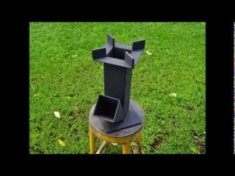 Scrap Iron   Rocket Stove Test Burn
