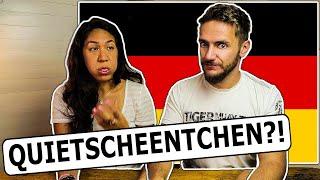 American Girlfriend Tries HARD to pronounce GERMAN WORDS!