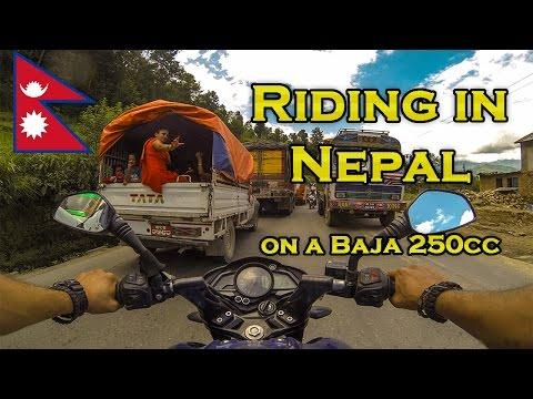 Insane Travel Adventure- Riding Across Nepal on a Bajaj Pulsar Motorcycle