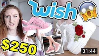 $250 Wish App Shoe Haul and Modelling