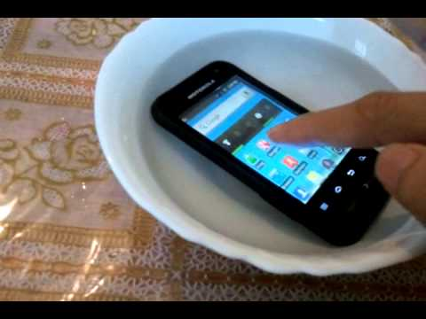 Motorola defy mini xt320 water test