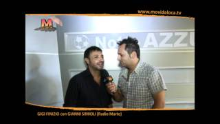 GIGI FINIZIO in onda su RADIO MARTE con GIANNI SIMIOLI special MOVIDA LOCA TV con MARIO P