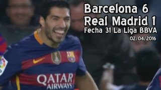 Barcelona 6 - Real Madrid 1 (Parodia)