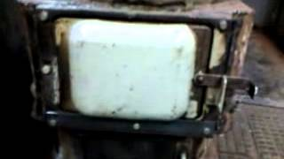 Печка на отработке и дровах, два в одном 1 Waste oil stove
