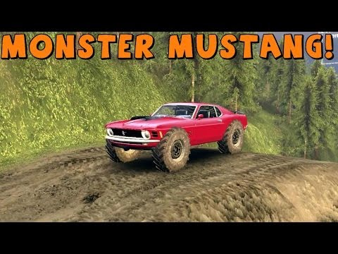 SpinTires   Mod Review   Monster Mustang Boss 429   Download Link In Description