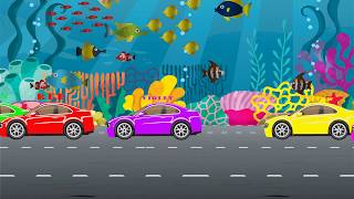 Colors Song -  Super Cars with Color  | Learn Colors | Nursery Rhymes | Kids Learning TV HD