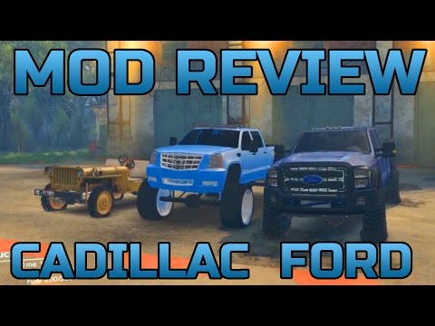 SPIN TIRES   MOD REVIEW   FORD   CADILLAC   JEEP   MUDDIN