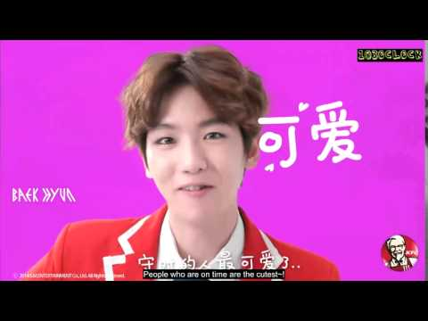 [ENGSUB] 141225 EXO x KFC wake up call - Baekhyun Lisa SrRussell