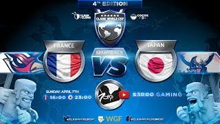 🔴DEMI FINALE CWC | France vs Japon | Clash Of Clans