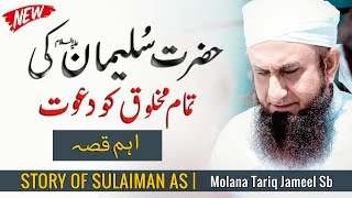 Story of Prophet Sulaiman as - اہم قصہ | Maulana Tariq Jameel Latest Bayan 14 February 2019