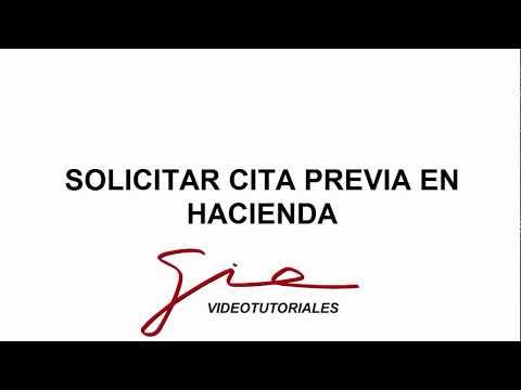 SOLICITAR CITA PREVIA EN HACIENDA