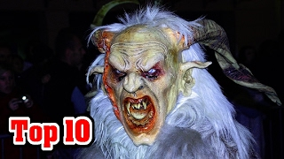 Top 10 MONSTER Krampus Facts - The Christmas Goat Demon