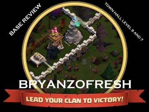 Clash Of Clans Town Hall Level 7 & 8 Base Review