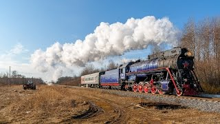 [RZD] LV-0522 steam locomotive, Vyazhishe - Rogavka strech
