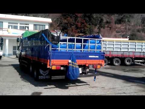 Работа в Южной Корее на морской капусте КИМ. Разгрузка вилами и лопатами
