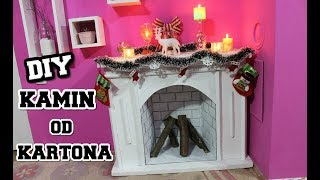 KAKO NAPRAVITI KAMIN OD KARTONA / Chimenea falsa de carton / DIY Fireplace from cardboard box