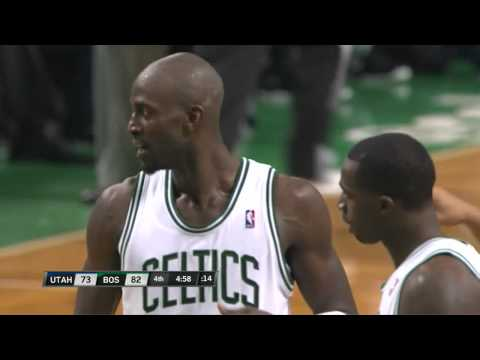 Kevin Garnett's Antics vs Al Jefferson & Jazz 3-28-12