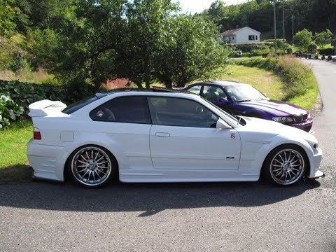 BMW E36 M3 Widebody Build and E46 Front End Conversion