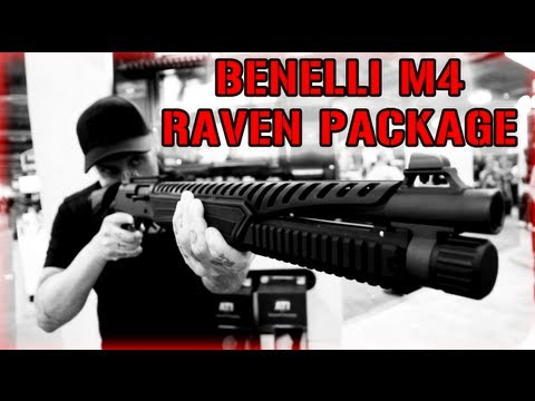 ATI Benelli M4 Raven Package - Civilian Legal 6 Position Stock | SHOT Show 2013