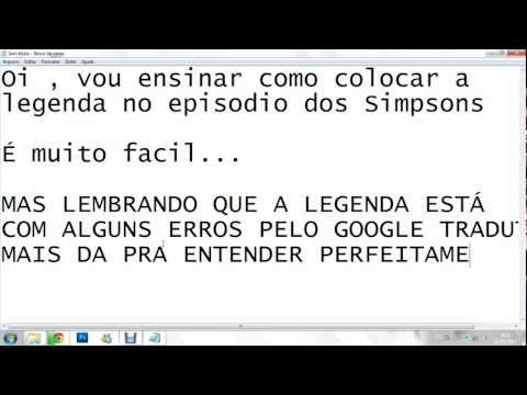 Colocando Legenda Pelo Windows Media Player Classic