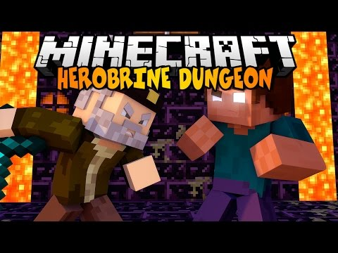 Minecraft: HEROBRINE DUNGEON   Cute Puppy Mod Review
