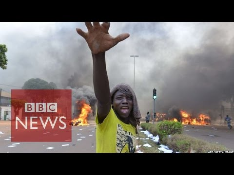 Burkina Faso protests: 'Black smoke is all around me'