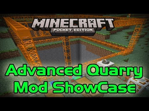 Advanced Quarry Mod Minecraft PE: Mod Showcase 0.8.1