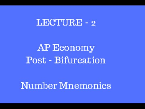 Lec 2 ||  Andhra Pradesh Economy for APPSC || Post Bifurcation -  Number Mnemonics and Mind Map