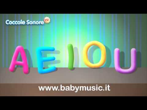 La Canzone delle vocali A E I O U  - Imparare con Coccole Sonore...