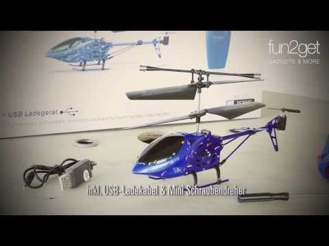 fun2get ferngesteuerter Helikopter Blue Blood mit Motion Control