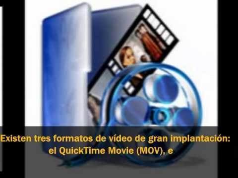 video de tipos de formatos e archivos