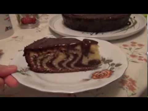 Как приготовить торт Зебра - видео