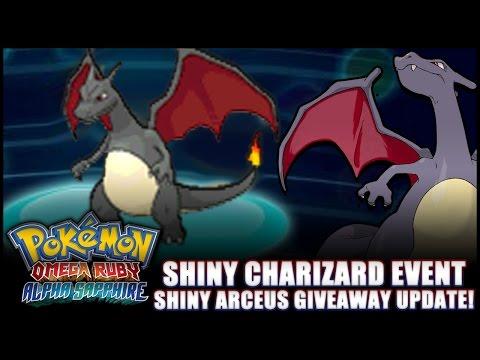 Pokémon Omega Ruby And Alpha Sapphire - News: Shiny Charizard Event, Shiny Arceus Giveaway Details! video