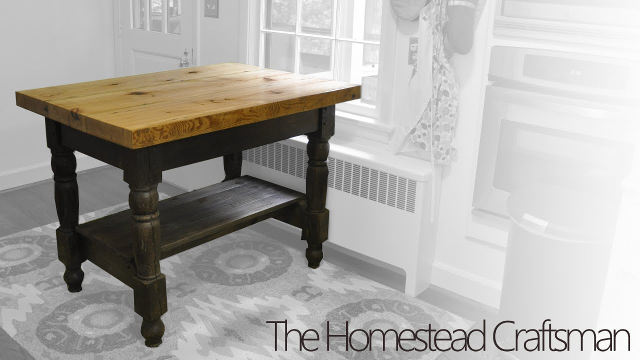 Building a Kitchen Island from Reclaimed Wood - YouTube