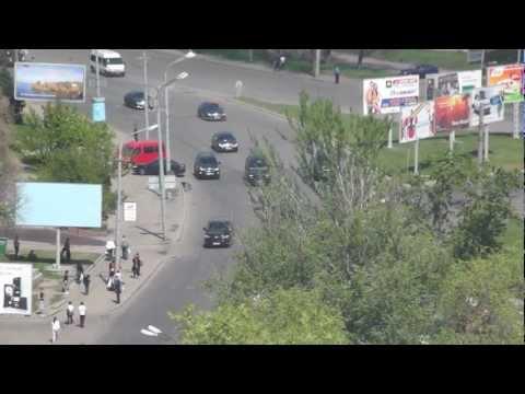 Viktor Yanukovych motorcade in Dnipropetrovsk