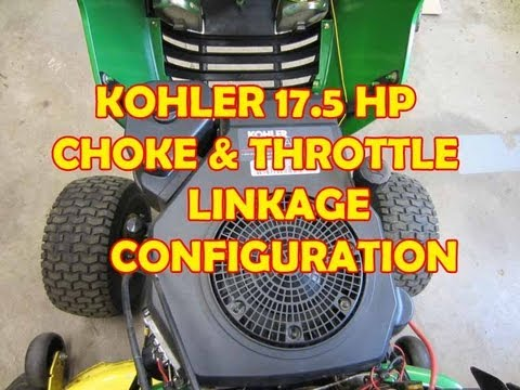 Kohler 17.5 HP Engine Carburetor Choke & Throttle Linkage Configuration