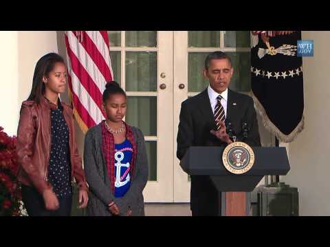 Obama Pardons Turkey 2012-Full Video
