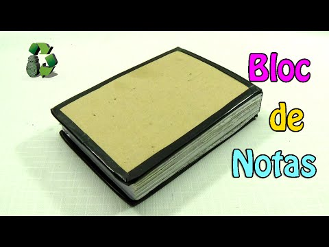 15. DIY NOTEBOOK (BLOCK DE NOTAS)RECICLAJE DE PAPEL