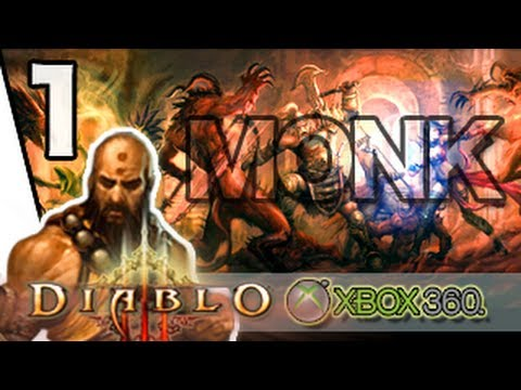 Diablo 3 Xbox 360/PS3 Monk Gameplay Walkthrough Part 1  – Monk with the Infernal Helm [HD]