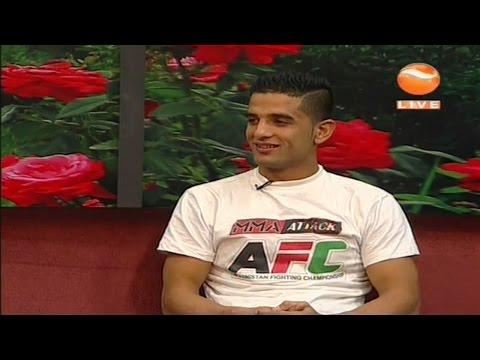 Afghan MMA Hero Farid Mubariz at Khurshid TV Studio