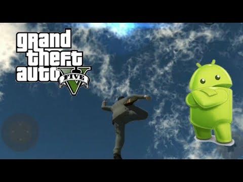 Издеваемся над персонажем в бета версии GTA 5 на андроид