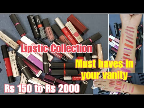 My lipstick collection | BEST LIPSTICK COLOR REVIEW / LIPSTICK SWATCHES INDIA