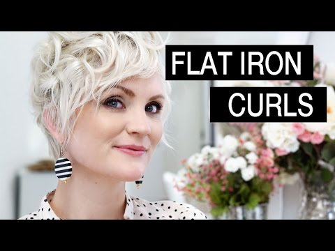 How To Style Short Hair Flat Iron Curls Youtube