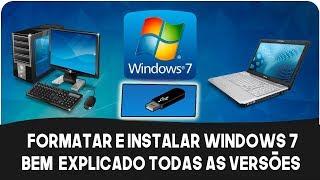 Formate Seu Pc e Instale Windows 7-Todas As Versões [Atualizado! ] 2019
