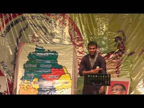 Rahul sings Podustunna Poddumeeda at Telangana Formation Day...