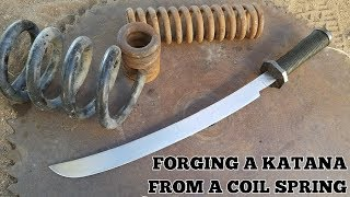 Forging A Katana From A Coil Spring