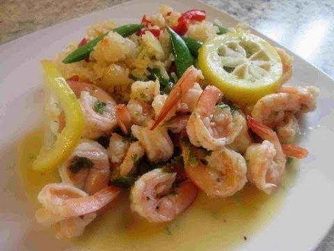 Italian Shrimp Scampi with Snap Pea Rice Recipe
