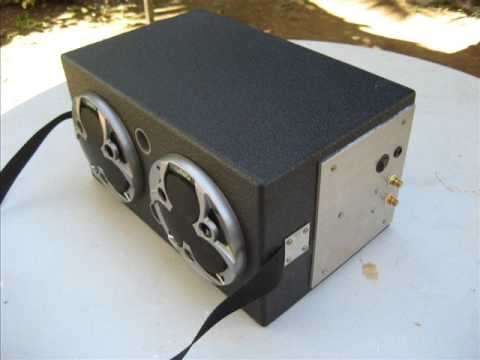 Home made speaker box 12V with batteries