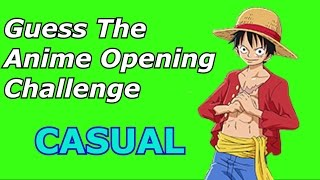 Guess The Anime Opening Challenge [Casual Level]