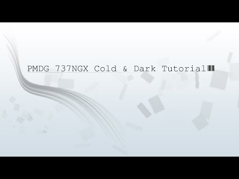 PMDG 737NGX Cold and Dark - StartUp - TakeOff - Tutorial GERMAN HD